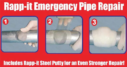 Rapp it leakseal pipeline leak repair products stop and for Leaky pipe carries more water